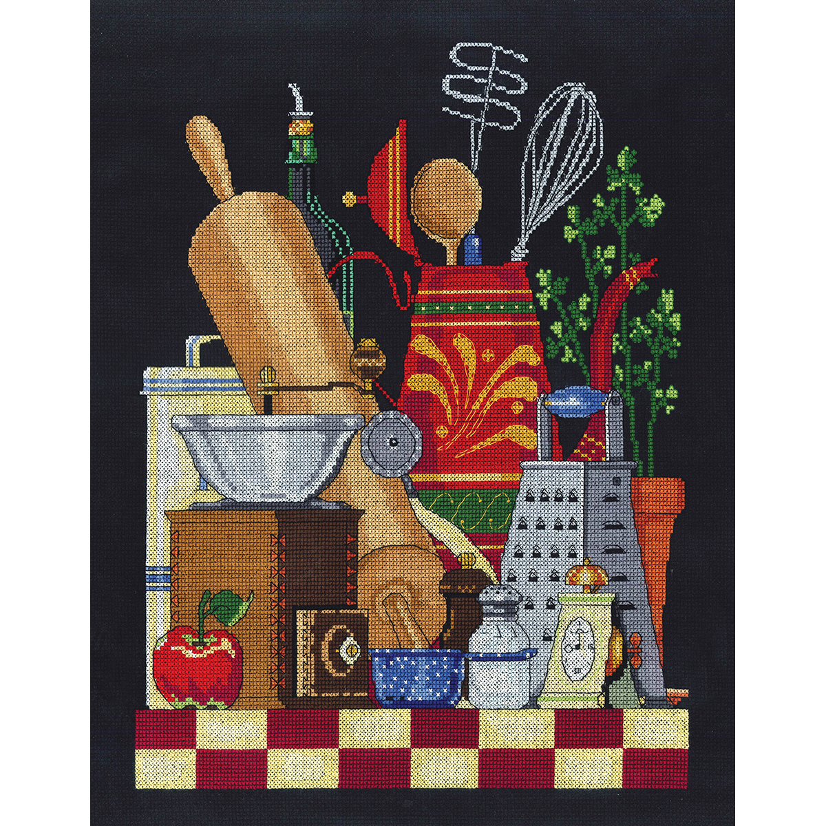 "Janlynn Counted Cross Stitch Kit 11""X14""-Kitchen Still Life (14 Count)"