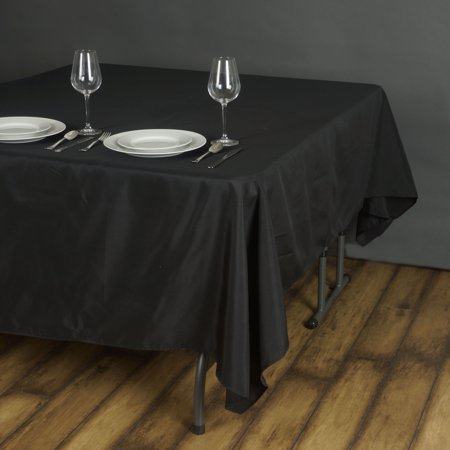 "BalsaCircle 70"" x 70"" Square Polyester Tablecloth Table Covers for Party Wedding Reception Catering Dining Home Table Linens"