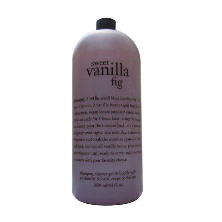 Philosophy Mega Size 3-in-1 Shampoo, Shower Gel & Bubble Bath, Sweet Vanilla Fig, 64 Fl Oz