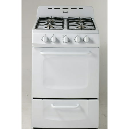 Avant Gr024pow White 24 Inch Gas Range With Open Burners