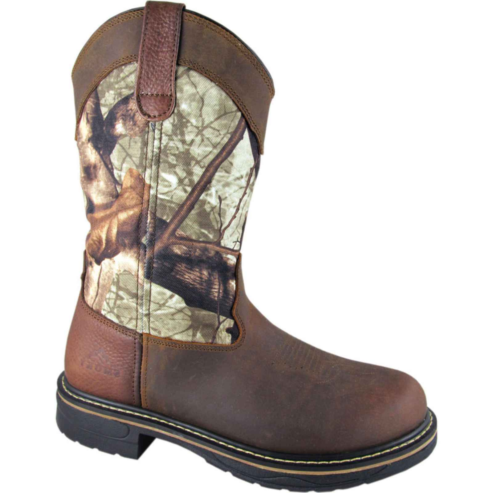 Smoky Mountain Men's Stage Camo Wellington Work Boot Round Toe - 4463