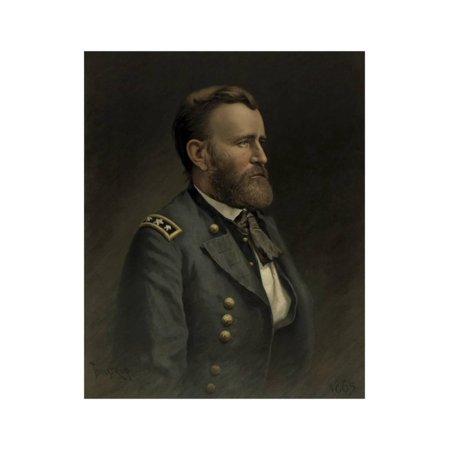 Civil War Painting of General Ulysses S. Grant Print Wall Art By Stocktrek Images (Civil War Paintings)