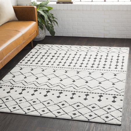Surya Carpet Inc Salcedo Bohemian Global White Area Rug 6 7