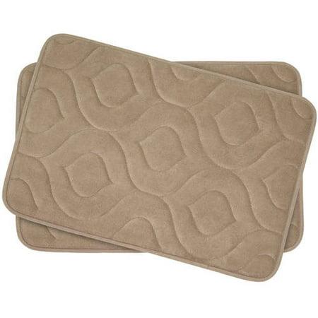 Bounce Comfort Naoli Microplush Memory Foam Bath Mat - Walmart.com