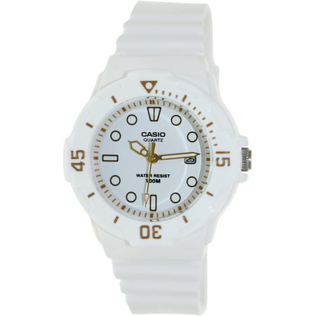 Women's Diver Watch, White Face and White (Black Face Diver Watch)