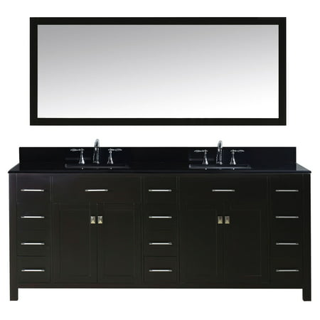 Virtu Md 2178 Bgsq Es 001 Caroline Parkway 78 Inch Double Bathroom Vanity Set In Espresso