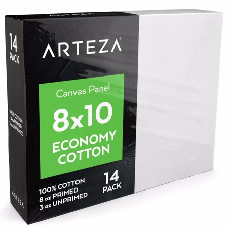Arteza 8  X 10  Canvas Panel  Pack Of 14