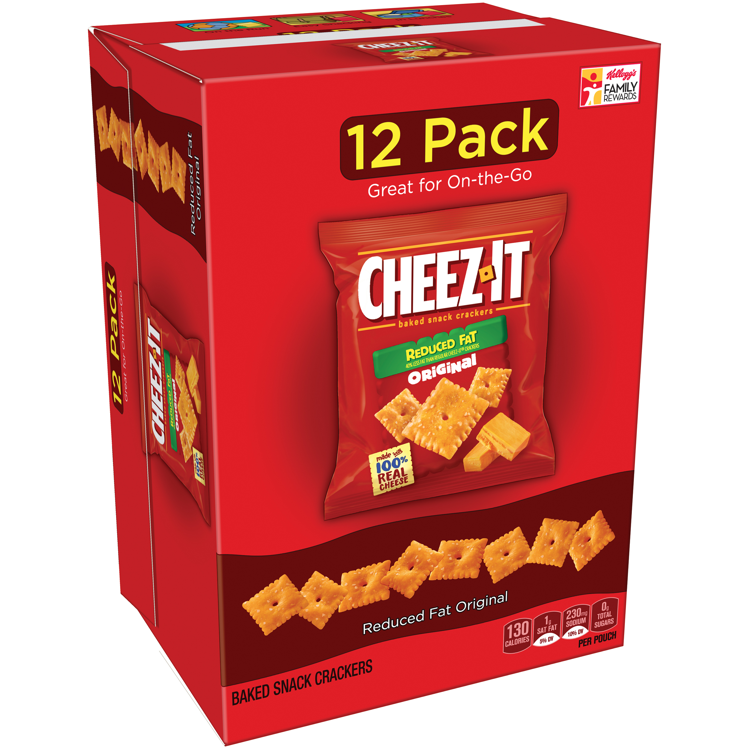 Cheez-It Reduced Fat Baked Snack Crackers, 1 oz, 12 count