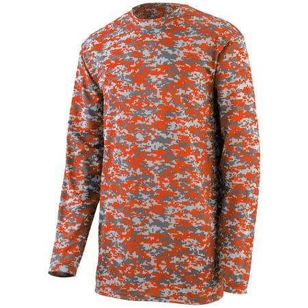 2789 Augusta Sportswear Exercise Shirt Boys Digi Camo Wickng Long-Sleeve T-Shrt thumbnail