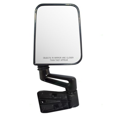 Passengers Manual Side View Mirror w/ Convex Glass Door Hinge Mounted Upgrade Type Replacement for Jeep Wrangler 55027208 CH1321102