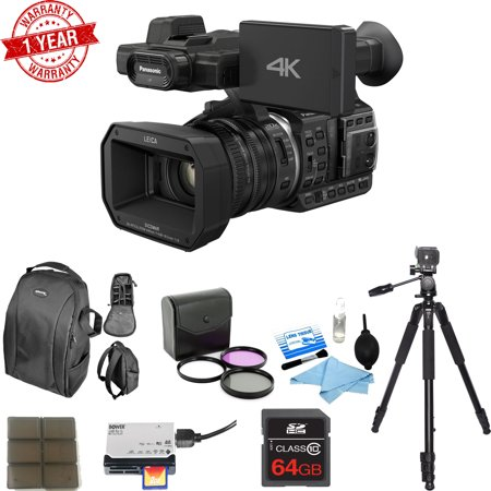 Panasonic HC:X1000 4K DCI/Ultra HD/Full HD Camcorder w/ 64GB Memory Card Deluxe Bundle