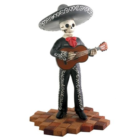 Skeleton Skull Black Mariachi Band Guitar Figurine Collectible, Brand new never used condition By Summit - Guitar Skeleton