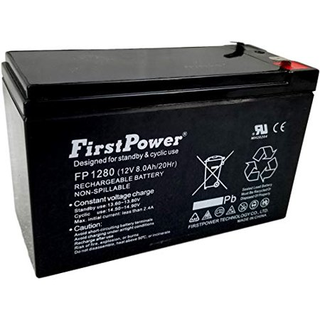 FirstPower 12v 8ah for APC Back-UPS Pro 420, BP420IPNP, BP420S UPS Battery FirstPower 12v 8ah for APC Back-UPS Pro 420, BP420IPNP, BP420S UPS BatteryFirstPower 12v 8ah Sealed Lead Acid Batteries are made with the highest quality of materials available. Our Lead Acid Batteries are typically used for: Home Alarm Systems, Uninterruptible Power Supply(UPS), Lighting Equipment, General Electronics, Home Security Systems, Emergency Systems, Medical Devices, Electric Scooters, Solar Collectors, Wheelchairs and many Other Applications. Whether it's the SECURITY of your home, the MOBILITY of your machine, or even just a personal HOBBY, be sure to use the most efficient batteries availableLength: 11.0 Width:9.0 Height:1.0Weight:5.0