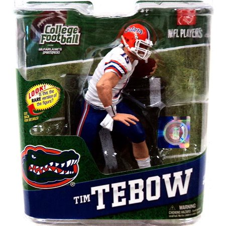 Mcfarlane Ncaa College Football Series 4 Tim Tebow Action Figure  White Jersey