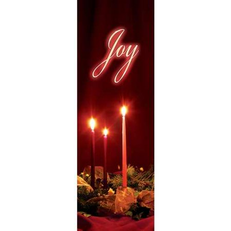 Vcp Wholesale 27591 Banner C Advent Candles Joy Indoor