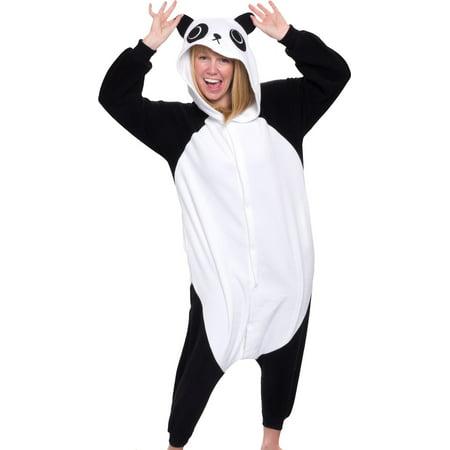 SILVER LILLY Unisex Adult Plush Animal Cosplay Costume Pajamas (Panda)