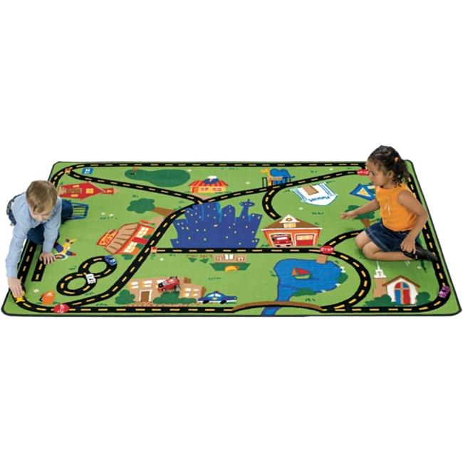 Carpets For Kids 1017 Cruisin A Round the Town 8 ft. x 12 ft. Rectangle Carpet