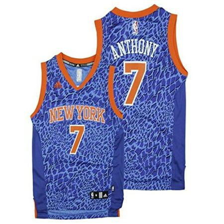 Adidas New York Knicks NBA Big Boys Youth Carmelo Anthony  7 Crazy Light Swingman  Jersey 7969b1681
