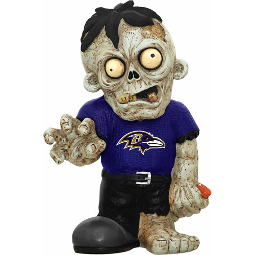 Forever Collectibles NFL Resin Zombie Figurine, Baltimore Ravens