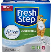 Fresh Step Odor Shield with Febreze Freshness, Clumping Cat Litter, Scented, Choose Your Size
