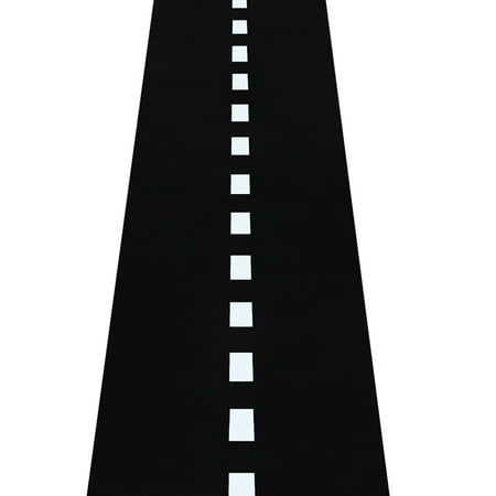 Novelty Place Racetrack Floor/Ground/Table Runner - 10 Ft x 2 Ft Black Race Track Running Mat - Sports Race Car Theme Party Entry Table Decorations](Cowboy Themed Table Decorations)