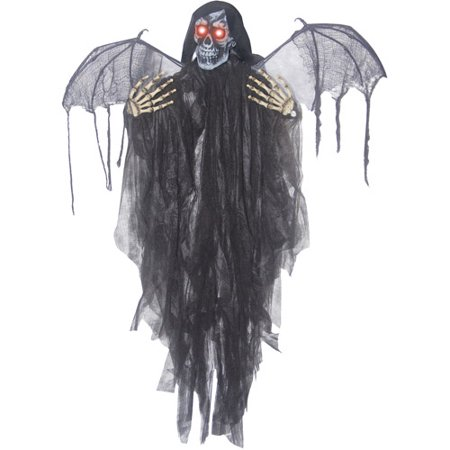 3.5' Hanging Reaper with Wings Halloween - Airblown Halloween Decoration Wicked Reaper