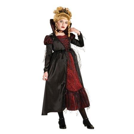 Dracula Costume For Women (Vampiress Dracula Girl Premium Dress Costume Child)