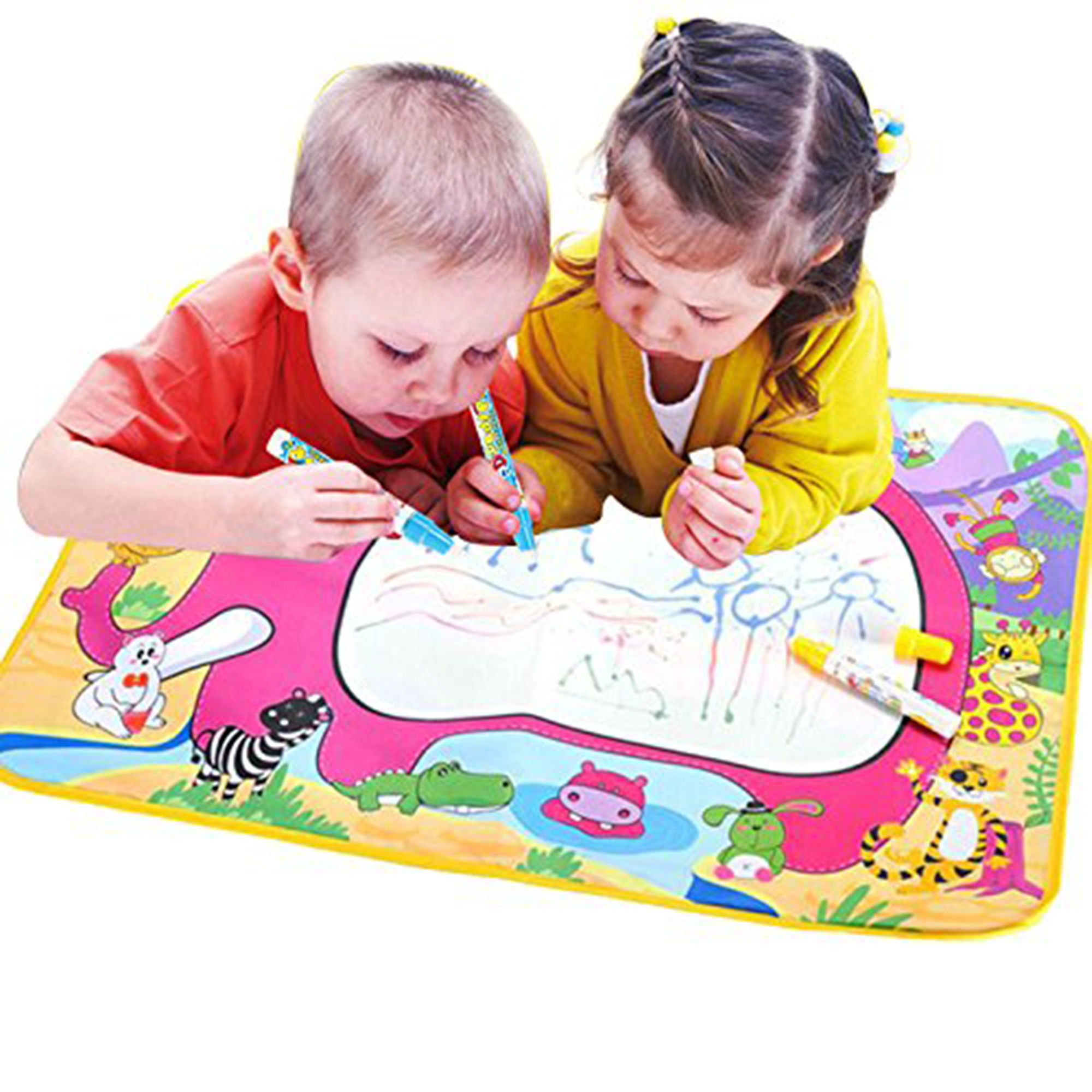 KARMAS PRODUCT Water Paint Mat Educational Toy Draw Mat with Pen for Kids