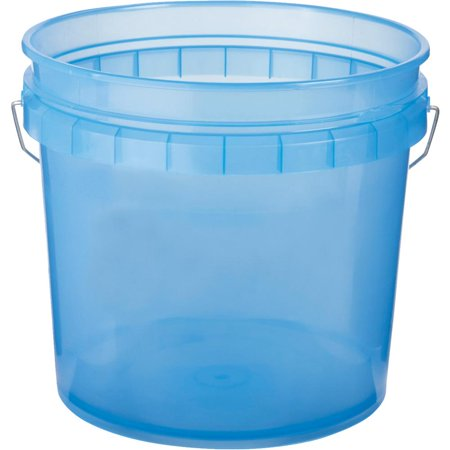 LEAKTITE 3.5 Gallon Blue Plastic Pail 003G1TBL010 Degreaser 5 Gallon Pail