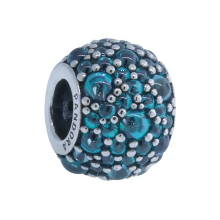 Authentic 791755mcz Shimmering Droplet Teal Charm