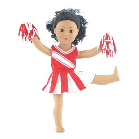 c069ee961bc Doll Clothes Fit American Girl Doll - Red Cheerleader Outfit - 18 ...