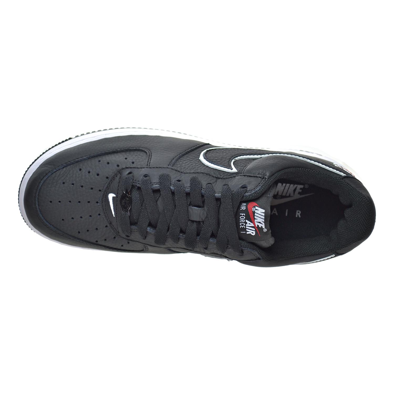 info for 8d5f3 93d0d Nike - Mens Nike Air Force 1 Low NYC Kith Black White Red 845053-002 -  Walmart.com