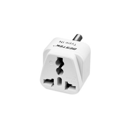 - BESTEK Grounded Universal Plug Adapter Travel Plug usa to India Travel Plug converter adapter plug Kit for India (Type IN) - 3 Packs