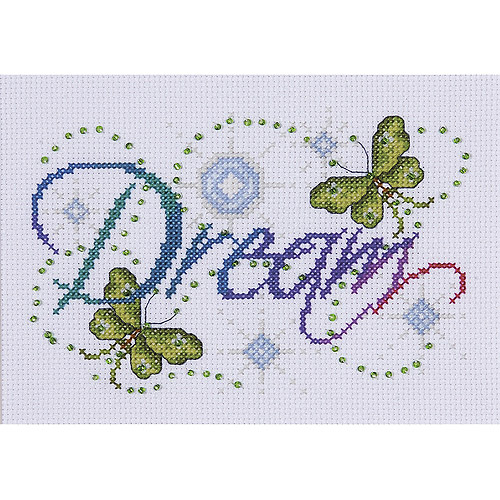 Tobin Design Works Counted Cross-Stitch Kit, Dream