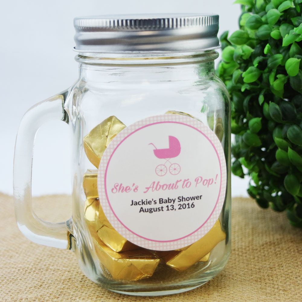 Small Mason Jar Mug w/ Handle, Lid (1 Pint / 16 oz) - Great for Crafting and Favors