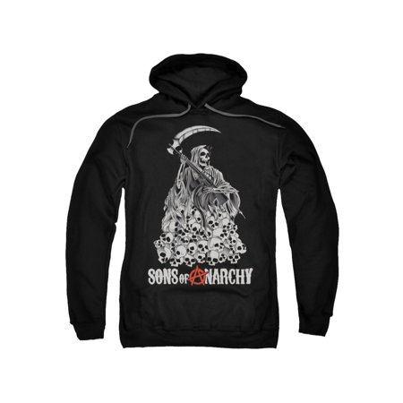 Sons of Anarchy Reaper Pile of Skulls Adult Pull-Over Hoodie Hooded - Hooded Reaper