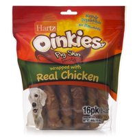 Hartz Oinkies Chicken-Wrapped Dog Treats, 16.4 Oz. (16 Count)