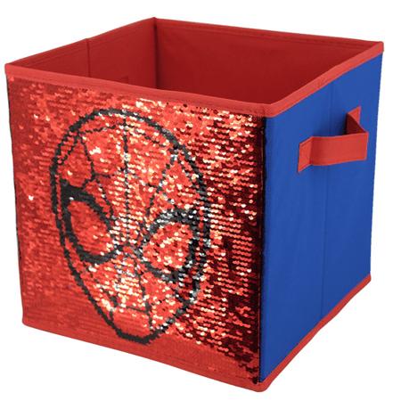 Marvel Spider-Man Reversible Sequin 10x10 Storage (Man Store Online)