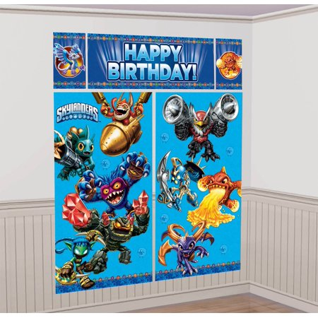 Skylanders Wall Decorating Kit (Each) - Party Supplies - Skylanders Birthday Party