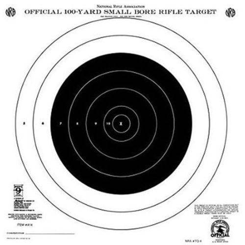 Hoppes A14T 100yd Single Bull's-Eye, 20pk