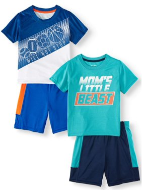 76803f886982 Product Image Wrights Mix & Match Outfits, 4pc Active Set (Toddler Boys)