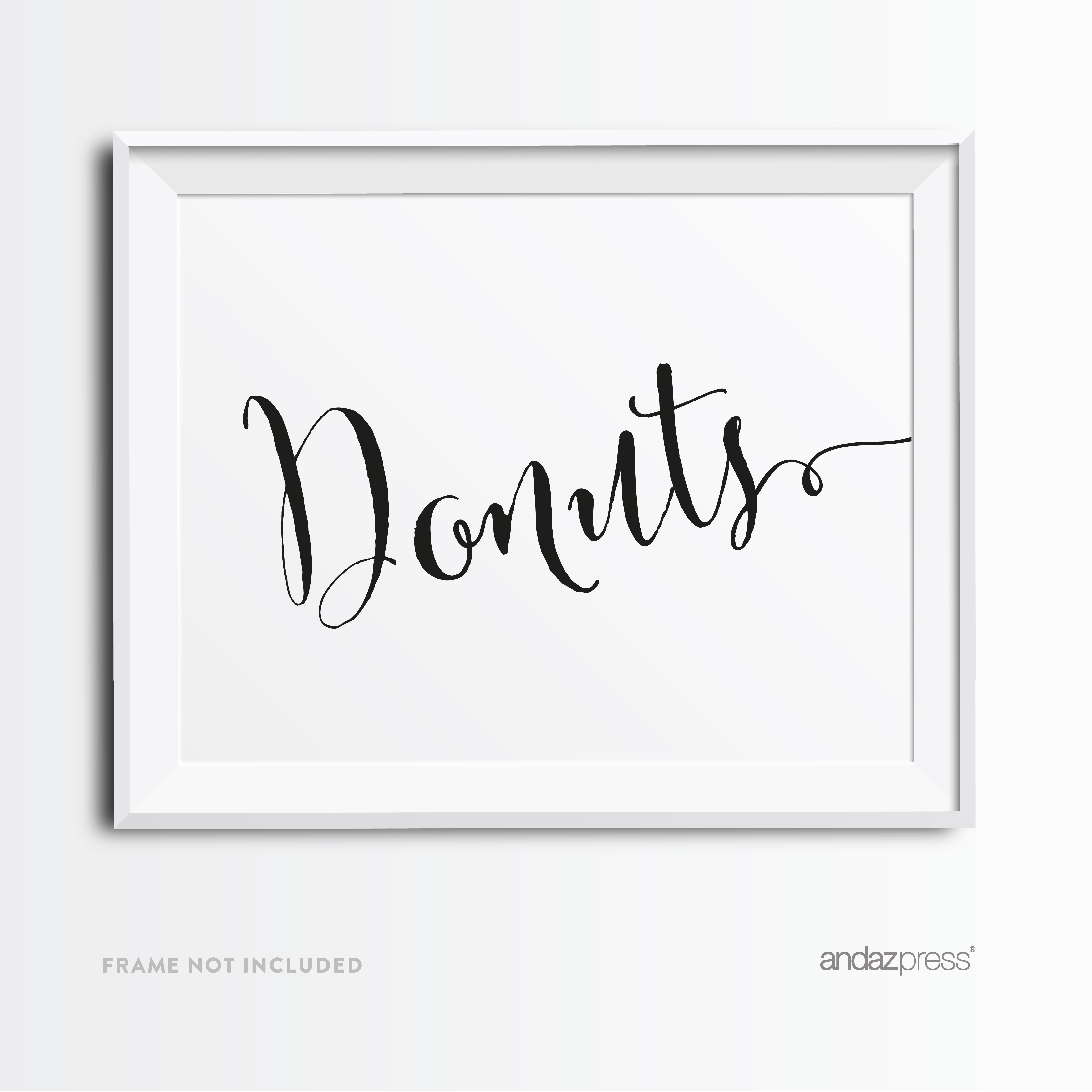 Donuts Formal Black & White Wedding Party Signs
