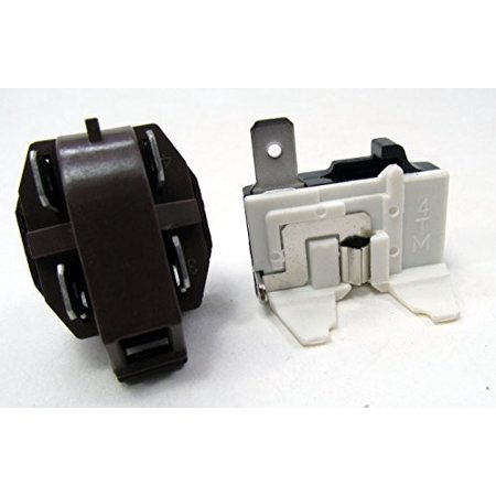 Kenmore Brands - 1108190 - NEW REFRIGERATOR COMPRESSER 1/4 to 1/3 HP RELAY AND OVERLOAD KIT FOR WHIRLPOOL KENMORE MAYTAG AND MANY OTHER BRANDS