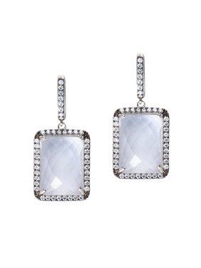 e67d7d508 Product Image Fengari Clear Quartz Cubic Zirconia Earrings Black Rhodium on  Sterling Silver. AzureBella Jewelry