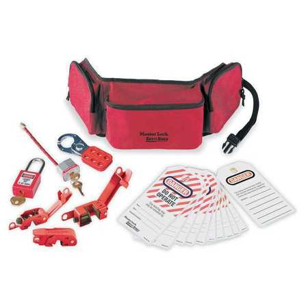 Portable Lockout Kit,Filled,Electrical MASTER LOCK 1456E410