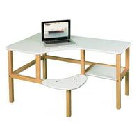 Wild Zoo Grade School Computer Desk - White