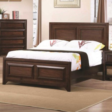 Coaster Furniture Greenough Bed with Picture Frame Detail - Maple Oak (Oak Bed Frame)