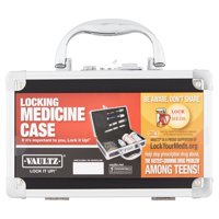 Vaultz Locking Medicine Case - Safe and Secure Pill Organizer