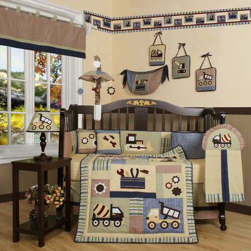 Geenny Boutique Baby Constructor 13 Piece Crib Bedding Set