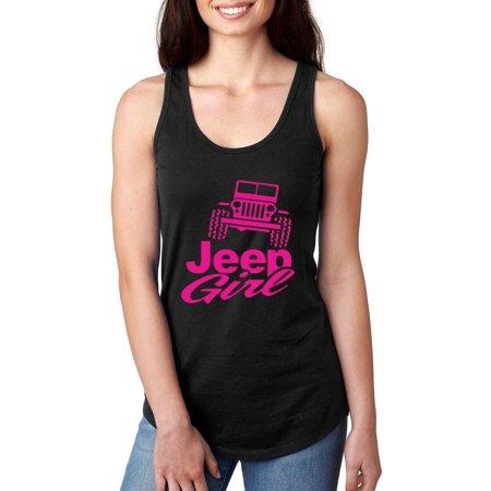 Offroad Truck Jeep Girl Women Tops Next Level Racerback Tank -